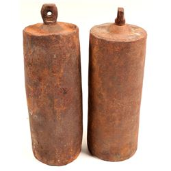 Quicksilver Flasks (2), New Almaden, California  (130131)