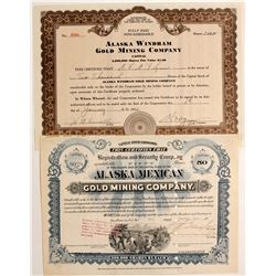 Two certificates of Alaskan stock  (82359)