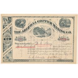 Arizona Copper Mining Co. Stock Certificate  (100897)