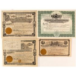 Four Mohave Mining Company Stock Certificates  (59583)