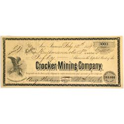 Crocker Mining Company Stock  (81645)