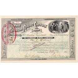 Gunsight Mining Company Stock Certificate  (100896)