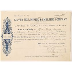 Silver Bell Mining & Smelting Co. Ltd. Stock Certificate  (100901)