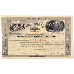 Ajo Mining & Development Co. Stock Certificate  (100893)