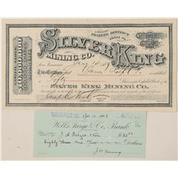 Silver King Mining Company Stock Certificate  (100902)