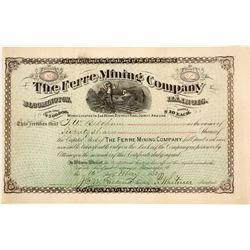 Ferre Mining Company Stock Certificate  (59591)