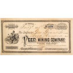 Extra Rare Peer Mining Company Stock Certificate  (59474)