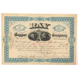 Rare Ray Copper Company Stock  (91715)