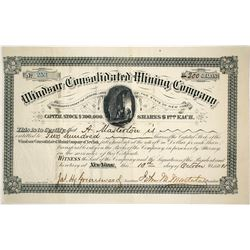 Windsor Consolidated Mining Company Stock Certificate  (59587)