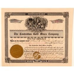 Contention Gold Mines Company Stock  (91714)