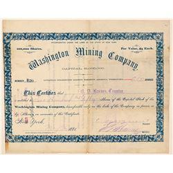 Washington Mining Company Stock  (91700)