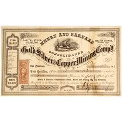Henry & Barnard Gold, Silver and Copper Mining Company Stock  (81632)