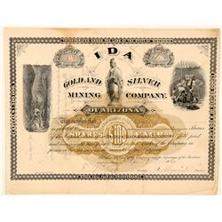 Ida Gold and SIlver Mining Company of Arizona Stock  (91702)