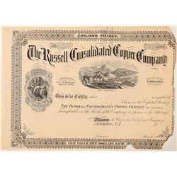 "Russell Consolidated Copper Co. Stock ""Proof""  (100908)"