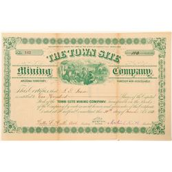The Town Site Mining Company Stock Certificate  (100914)