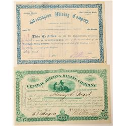 Two Arizona Mining Stock Certificates  (100906)