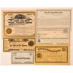 Amador County Mining Stock Certificate Collection  (100840)