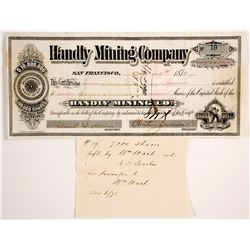 Handly Mining Company Stock Certificate  (88672)