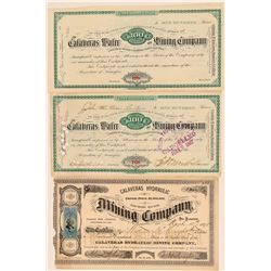 Three Calaveras County Mining Stock Certificates  (100860)