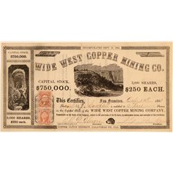 Wide West Copper Mining Co. Stock Certificate  (100848)