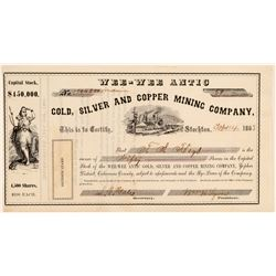Wee-Wee Antic Gold, Silver, & Copper Mining Co. Stock Certificate  (100849)