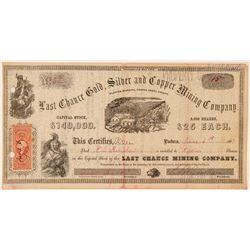 Last Chance Gold, Silver & Copper Mining Co. Stock Certificate  (101507)