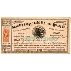 Noonday Copper Gold & Silver Mining Co. Stock Certificate  (101511)