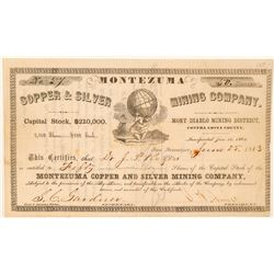 Montezuma Copper & Silver Mining Co. Stock Certificate  (101508)