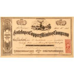 Antelope Copper Mining Company Stock Certificate  (101483)
