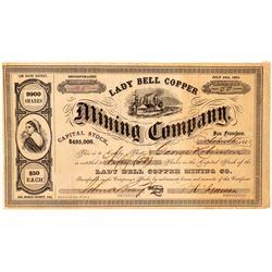 Lady Bell Copper Mining Company Stock Certificate  (101500)