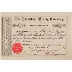 Hermitage Mining Company Stock Certificate  (100762)