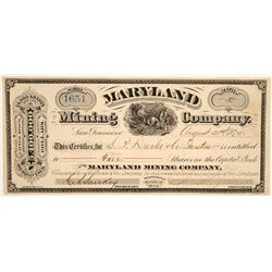 Maryland Mining Company Stock  (91959)