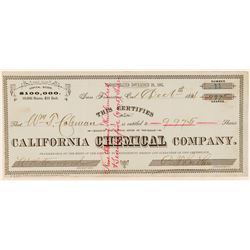California Chemical Company Stock Certificate (Borax)  (100750)