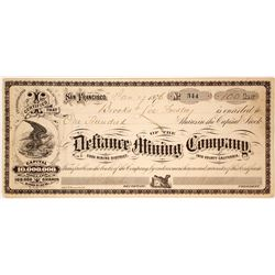 Defiance Mining Company Stock Certificate  (59687)