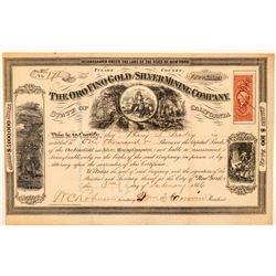 Oro Fino Gold & Silver Mining Co. Stock Certificate  (100984)