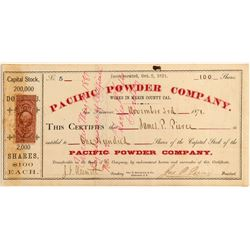 Pacific Powder Company Stock  (90460)