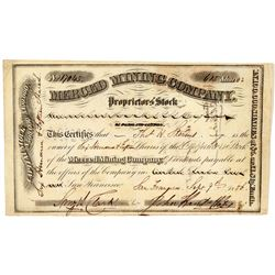 Merced Mining Company Stock Certificate  (100887)