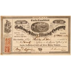 Eureka Consolidated Gold & Silver Mining Co. Stock Certificate  (101505)