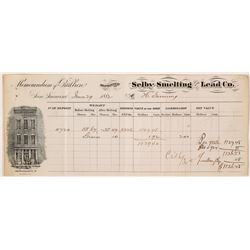 Selby Smelting & Lead Co. Assay Memorandum, 1882  (57674)