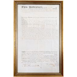 Vallejo Signed Document, 1853  (103310)