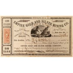 Empire Gold & Silver Mining Co. Stock Certificate  (101502)