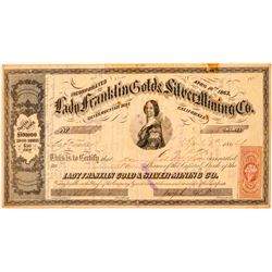 Lady Franklin Gold & Silver Mining Co. Stock Certificate  (100988)