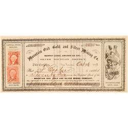 Mountain Oak Gold & Silver Mining Co. Stock Certificate  (100989)