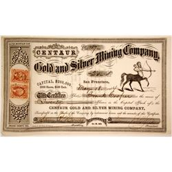 Centaur Gold and Silver Mining Company Stock  (80334)