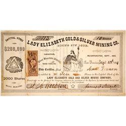 Lady Elizabeth Gold & Silver Mining Company Stock  (80335)