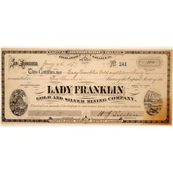 Lady Franklin Gold and Silver Mining Company Stock  (80336)