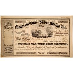 Mountain Gold and Silver Mining Company No. 1 Stock  (80341)
