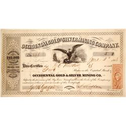 Occidental Gold and Silver Mining Company Stock - Mines Located in Mono County?  (80340)