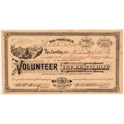 Volunteer Gold Mining Co. Stock Certificate  (100822)