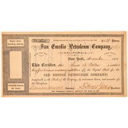 San Emedio Petroleum Company Stock Certificate  (100993)